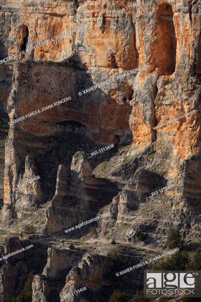 Stock Photo: Viewpoint Galiana, Natural Park of Wolves Canyon - Cañon de Río Lobos, Soria, Spain.