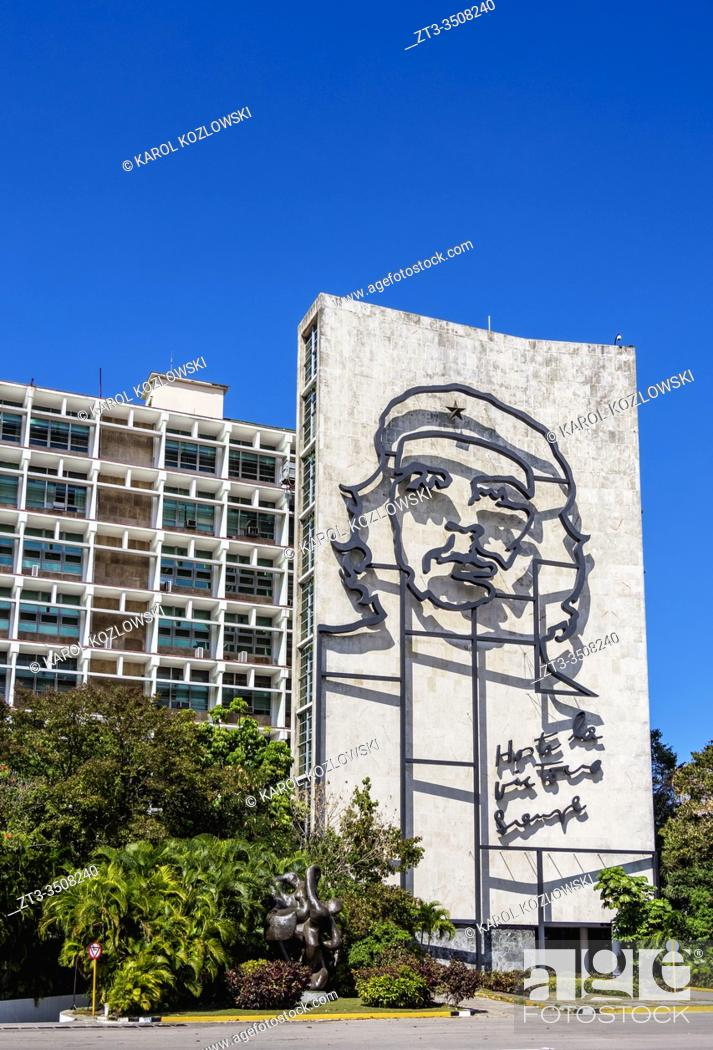 Stock Photo: Che Guevara Memorial at Plaza de la Revolucion, Revolution Square, Havana, La Habana Province, Cuba.