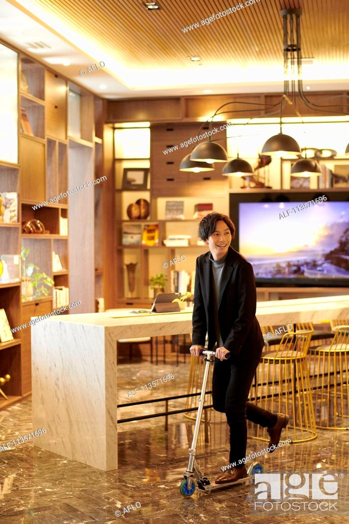 Stock Photo: Young Japanese businessman.