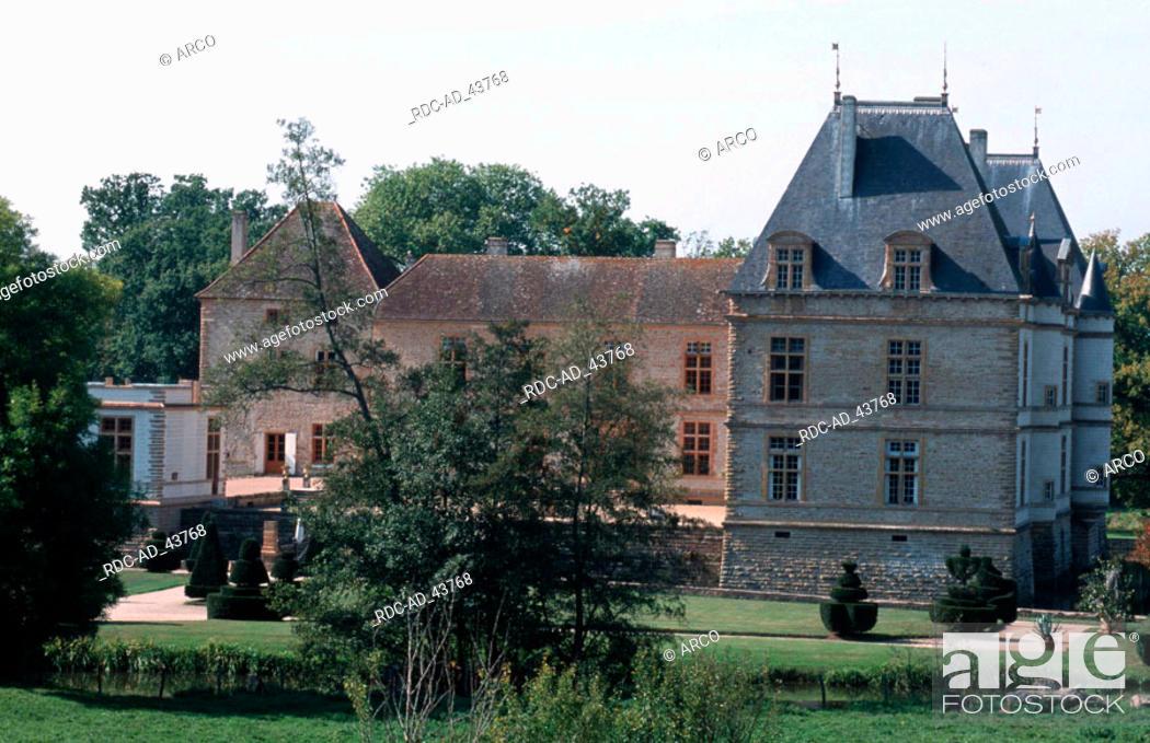 Stock Photo: Castle Chateau de Cormatin Burgundy France.
