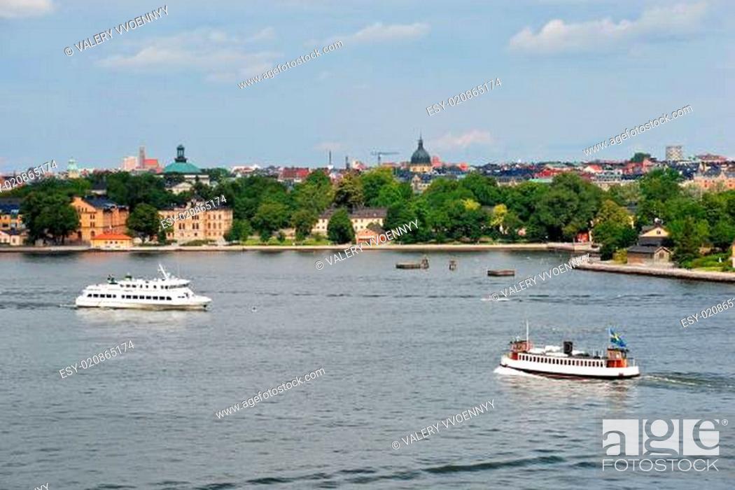 Stock Photo: view of Kastellholmen island, Stockholm.