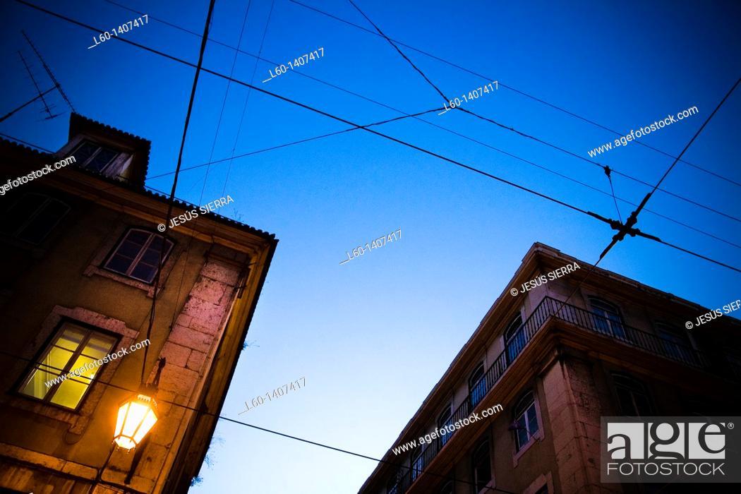 Stock Photo: Facades in Lisboa, Portugal.