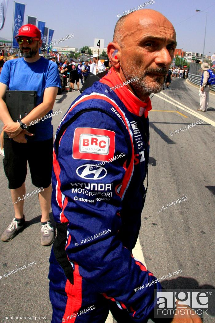 Stock Photo: G. Tarquini, Hyundai i30 N TCR #86, WTCR Race of Portugal, Vila Real 23-25 de June 2018.