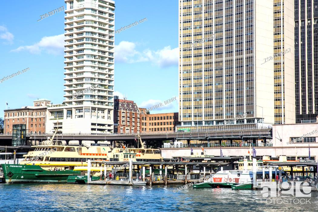 Stock Photo: Sydney Circular Quay with railway station and ferry terminus, New south wales, Australia.