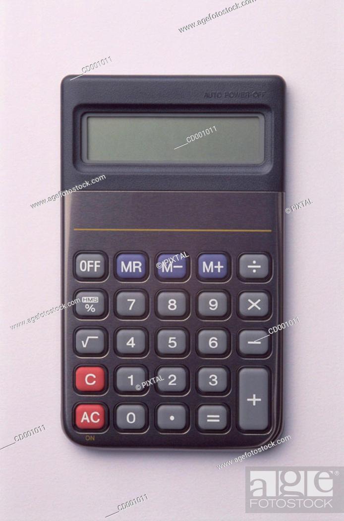 Stock Photo: Electronic calculator.