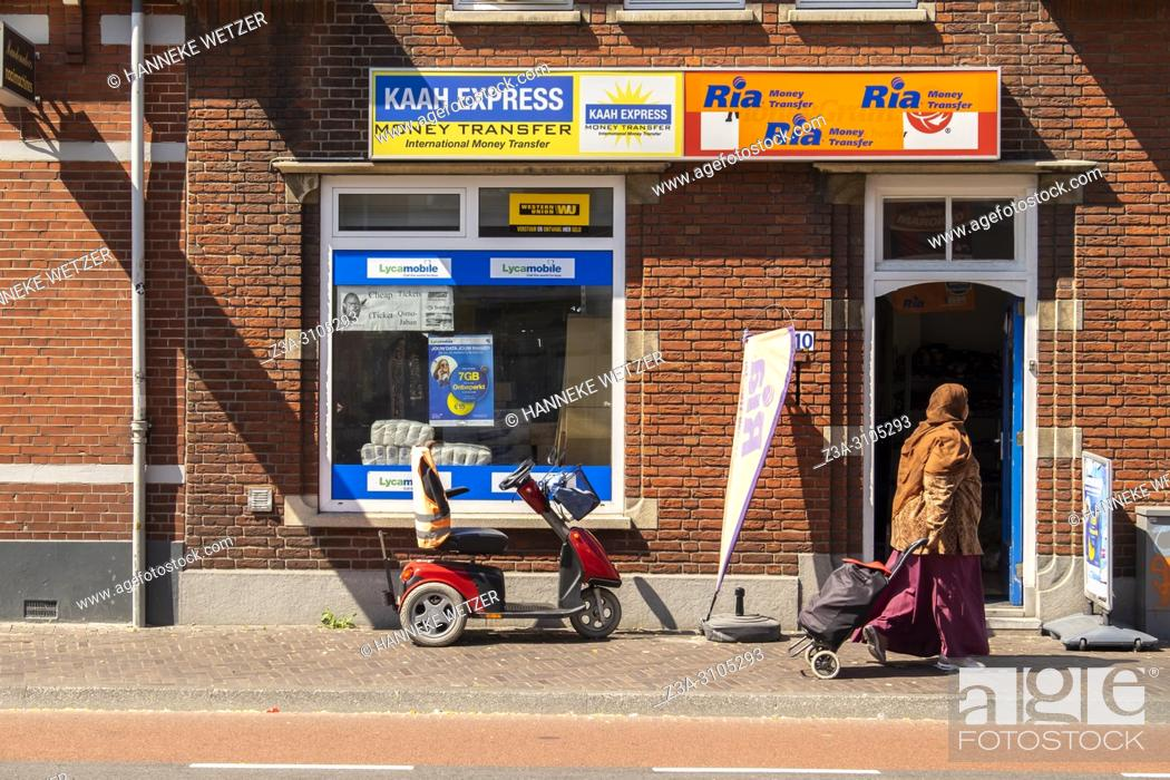 Photo de stock: Money Transfer shop in Eindhoven, The Netherlands, Europe.