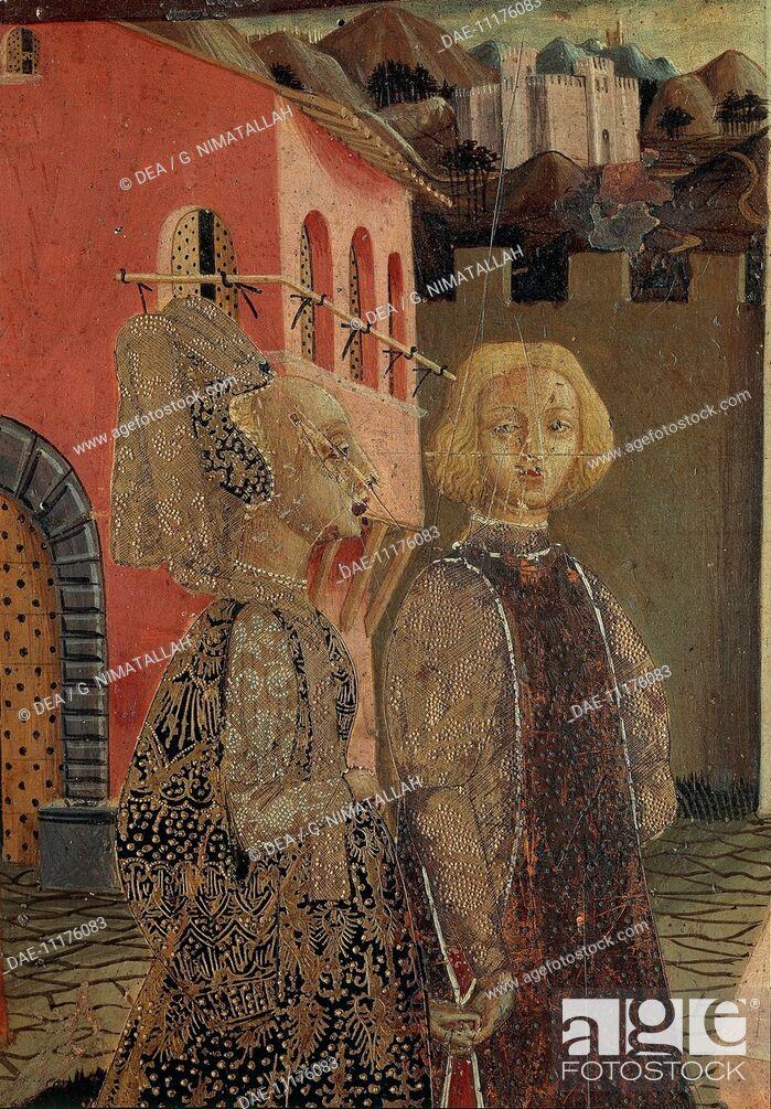Stock Photo: Master of Cassone Adimari, possibly Giovanni di Ser Giovanni, called lo Scheggia (1406-1486), Cassone Adimari, 1440-1450, tempera on panel, 88.