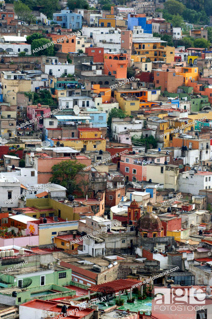 Stock Photo: Panoramic View Guanajuato Mexico.