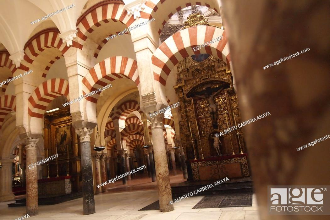 Imagen: Arches and columns, Cathedral of our Lady of the Assumption Great Mosque of Córdoba, Cordoba, Andalusia, Spain, Europe.