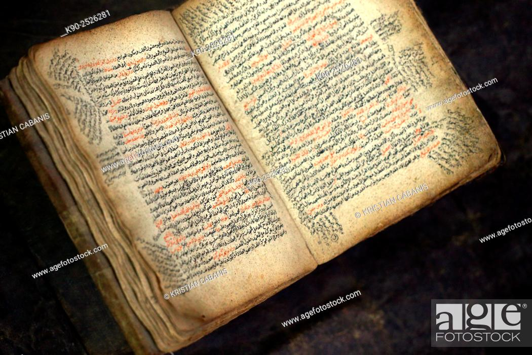 An open bible written in Amharic in an antique shop, Addis Ababa