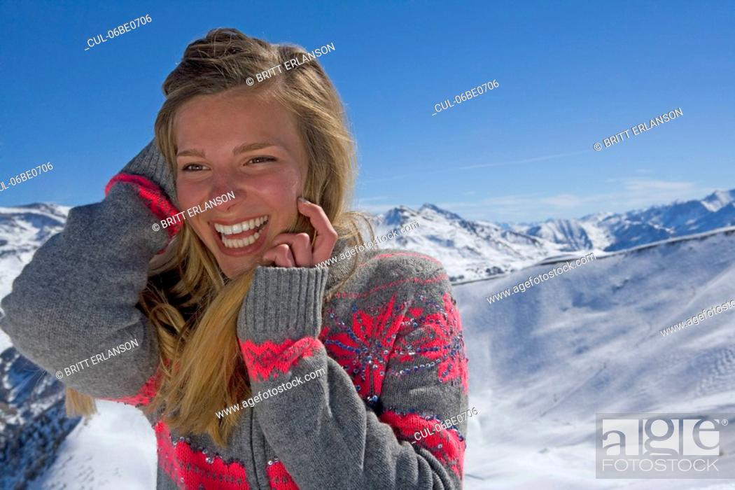 Stock Photo: Girl talking on phone.