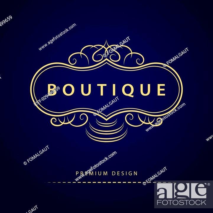 Vector: Vector illustration of Monogram design elements, graceful template. Elegant line art logo design. Business sign, identity for Restaurant, Royalty, Boutique.