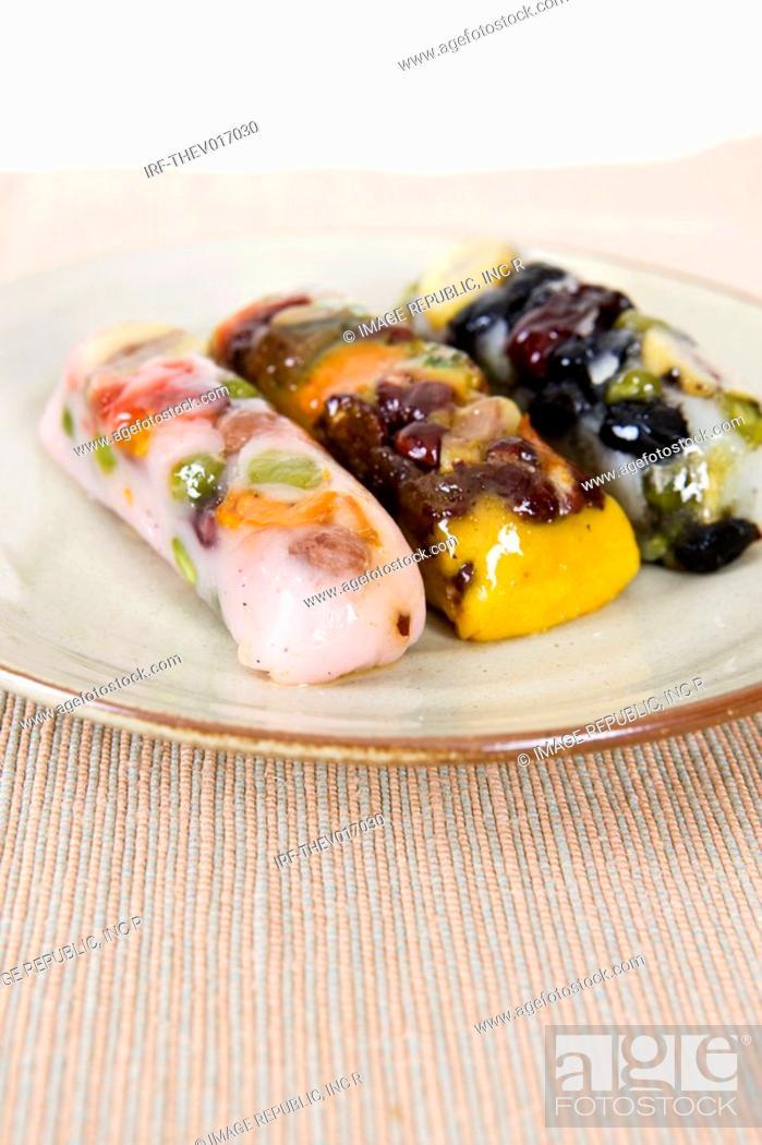 Stock Photo: Korean traditional food, rice cake.