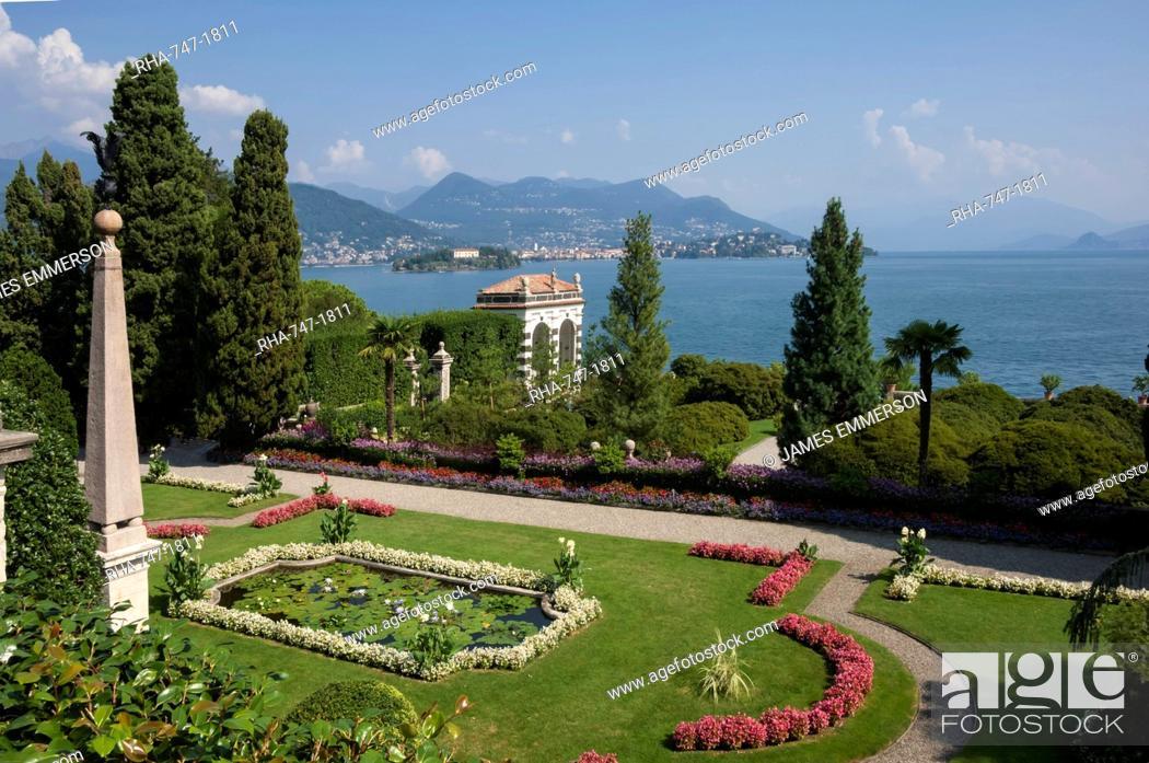 Stock Photo: Lily pond, Isola Bella, Borromean Islands, Stresa, Lake Maggiore, Italian Lakes, Piedmont, Italy, Europe.