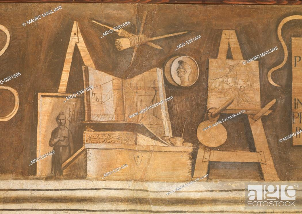 Stock Photo: The Liberal and Mechanical Arts, by Giorgio da Castelfranco known as Giorgione, 16th Century, 1500-1505, fresco.