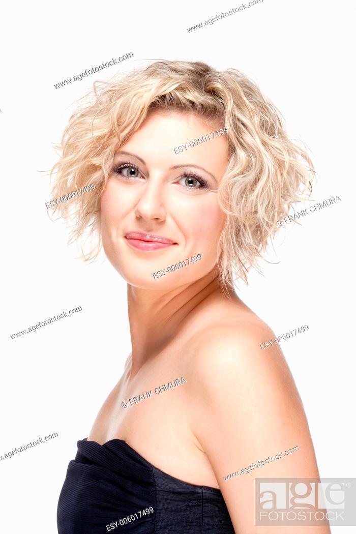 Stock Photo: Portrait of Female Opera Singer - Isolated on White.