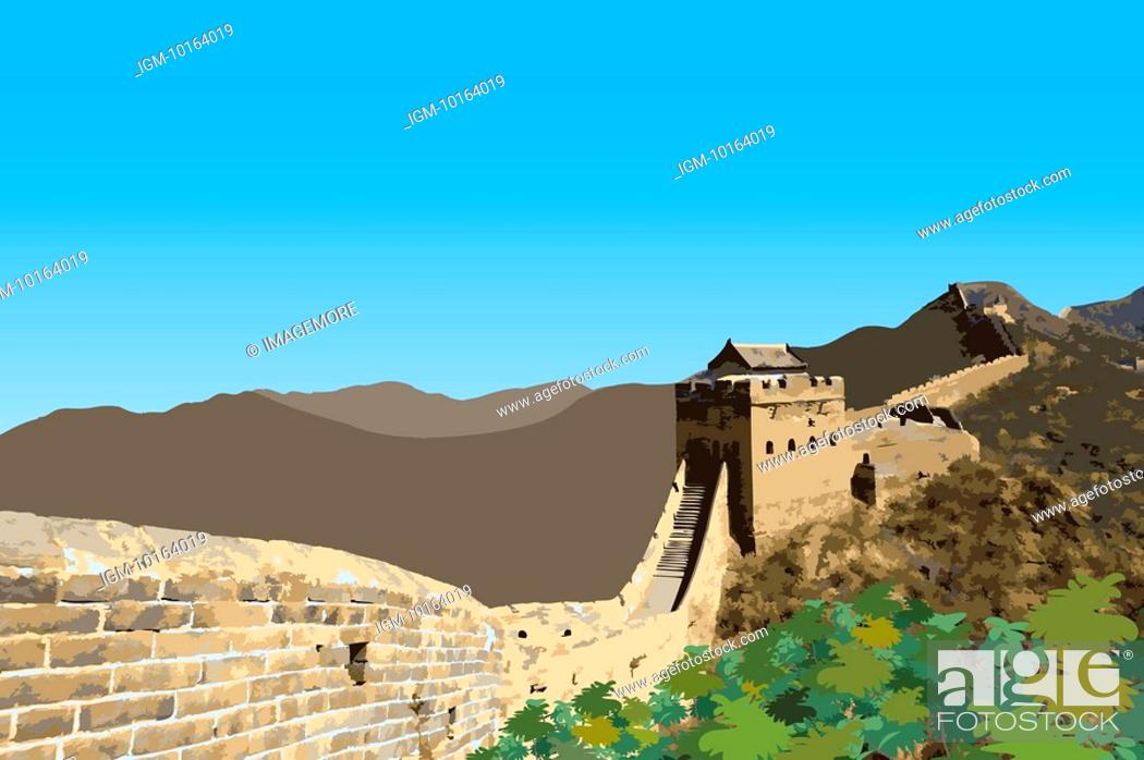Stock Photo: China, Great Wall Of China, UNESCO, World Cultural Heritage.