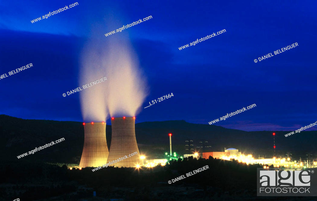 Stock Photo: Nuclear power station, Cofrentes. Valencia province, Spain.