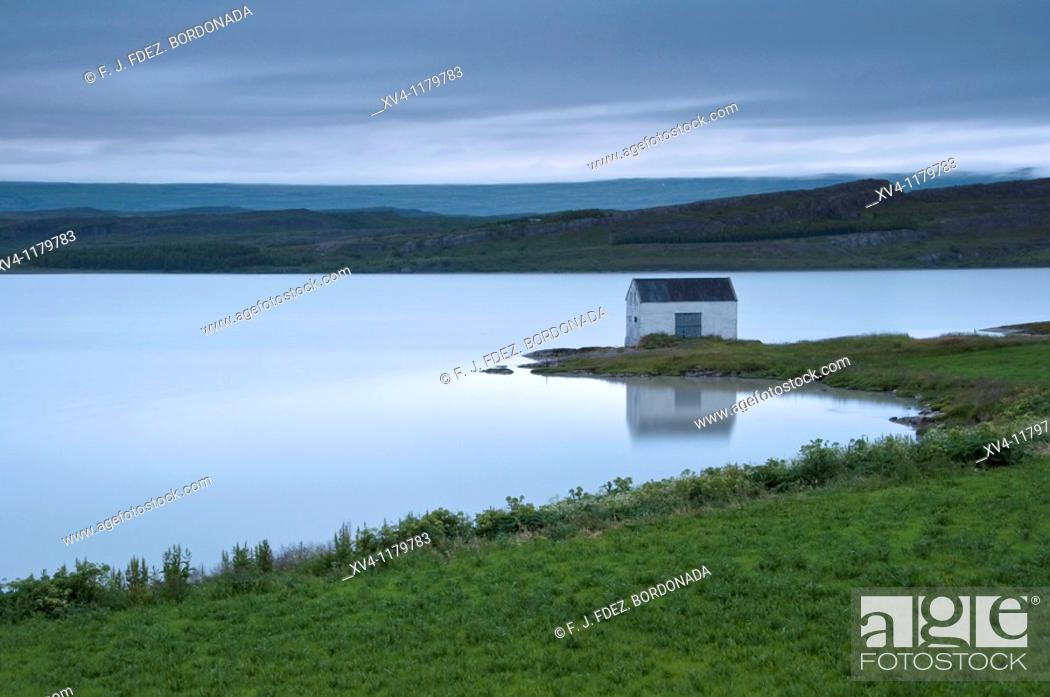 Stock Photo: Lagarfljot  Egilsstadir  Iceland east.