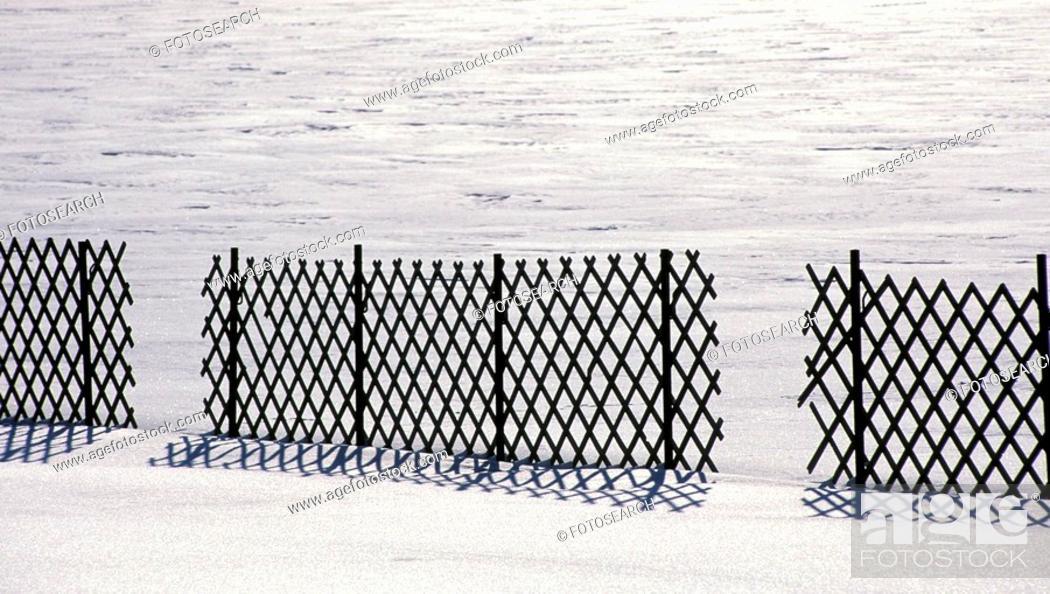 Stock Photo: Snow fence.