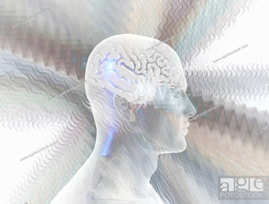 Stock Photo: Brainwaves.