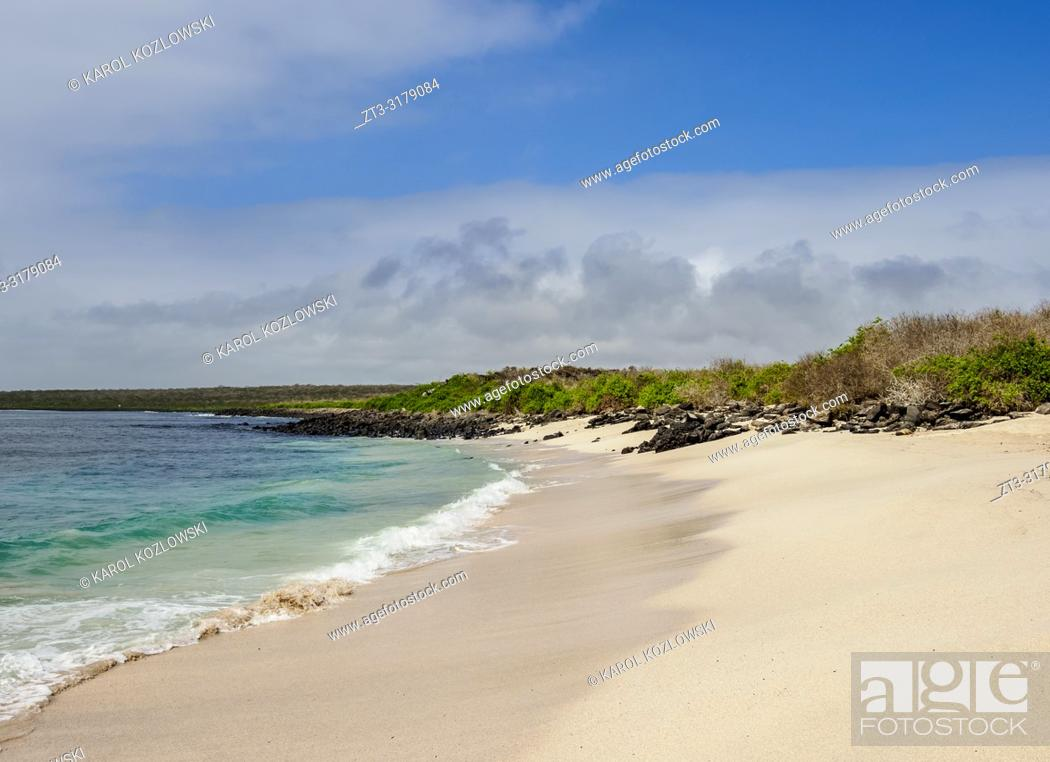 Stock Photo: Beach at Punta Suarez, Espanola or Hood Island, Galapagos, Ecuador.