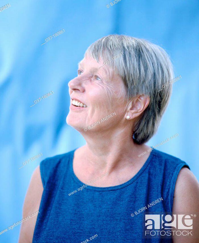 Stock Photo: Mature woman.