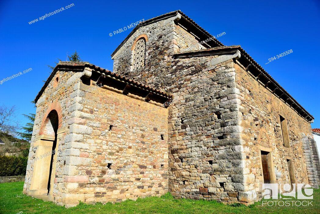 Imagen: Pre-Romanesque church of San Pedro de Nora, San Pedro de Nora, Asturias, Spain.