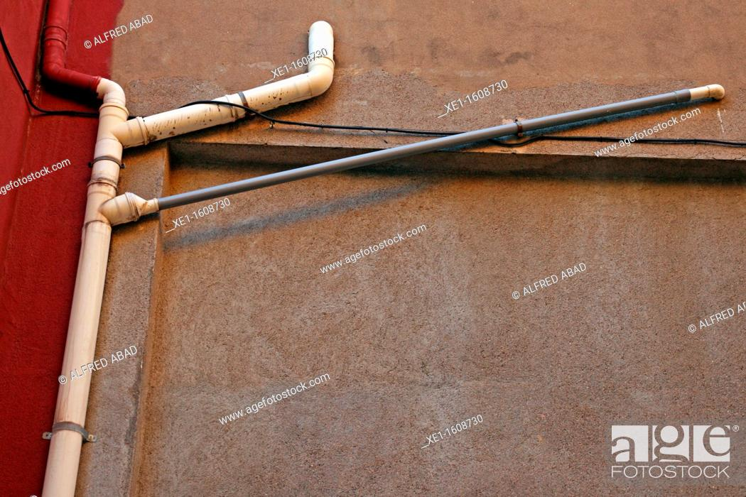 Stock Photo: Pipes, Torroella de Montgri, Catalonia, Spain.