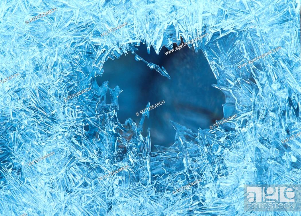 Stock Photo: Hole In Ice Sheet.