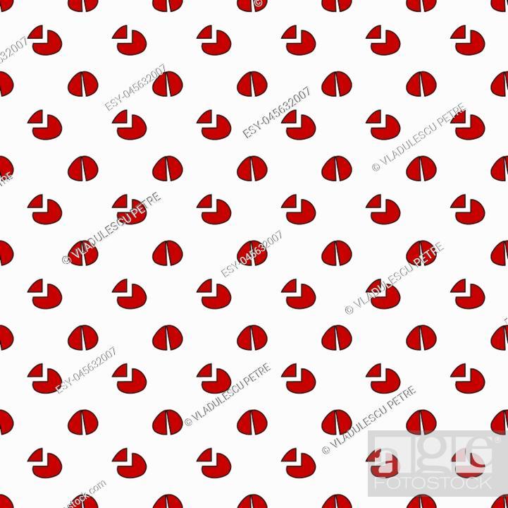 Stock Vector: broken red deformed dots.