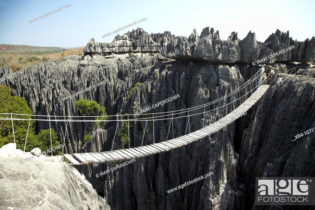 Stock Photo: Geological formations, Tsingy de Bemaraha National Park, Mahajanga, Madagascar.