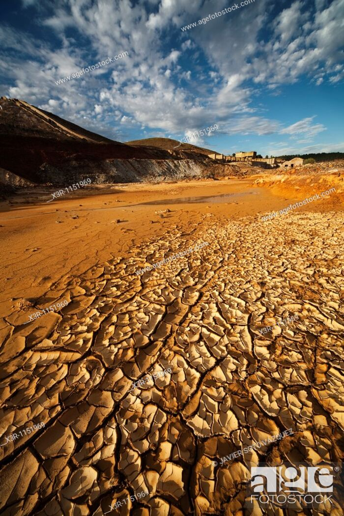 Stock Photo: Rio Tinto Mining Landscape in Huelva.