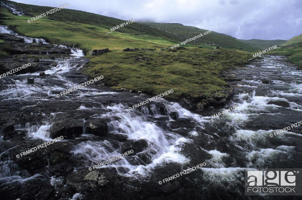 Stock Photo: denmark, faroe islands, vagar island.