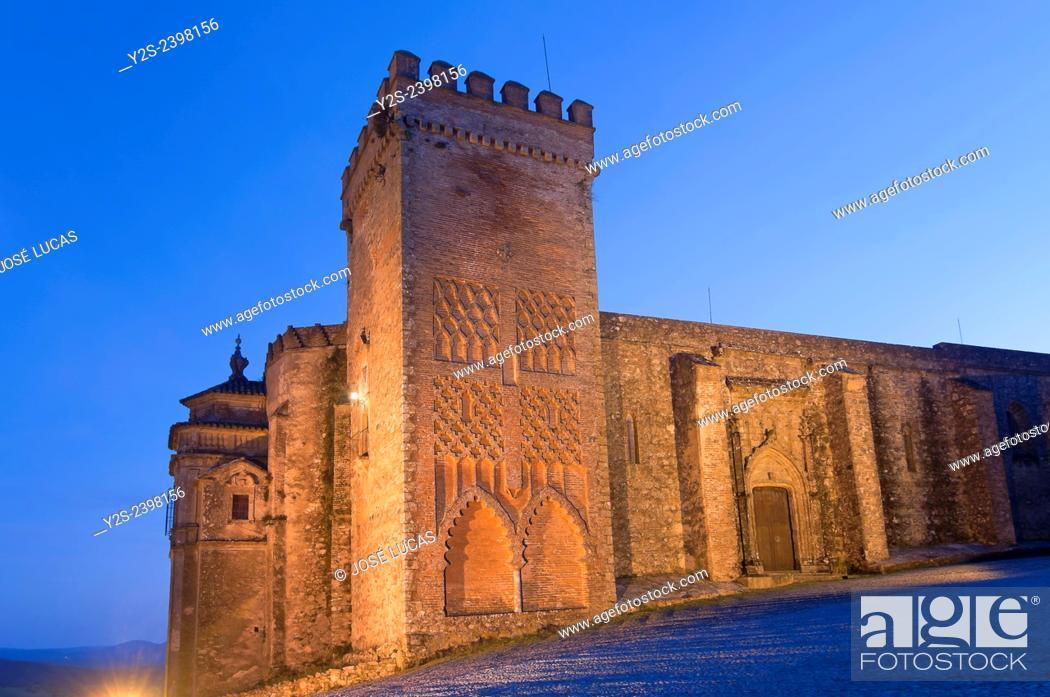 Stock Photo: Priory Church of the Castle-15th century, Aracena, Huelva province, Region of Andalusia, Spain, Europe.