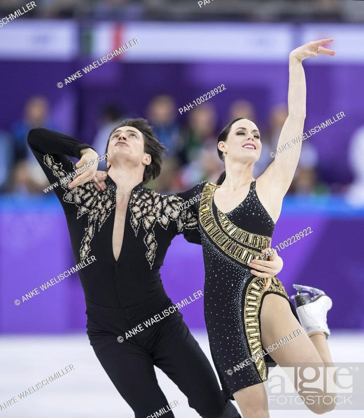 Stock Photo: Tessa VIRTUE und Scott MOIR, CAN, Aktion..Eistanz, Figure Skating Team Event, Eistanzen, Eiskunstlaufen, Eiskunstlauf, Gangneung Ice Arena, 11.02.2018.