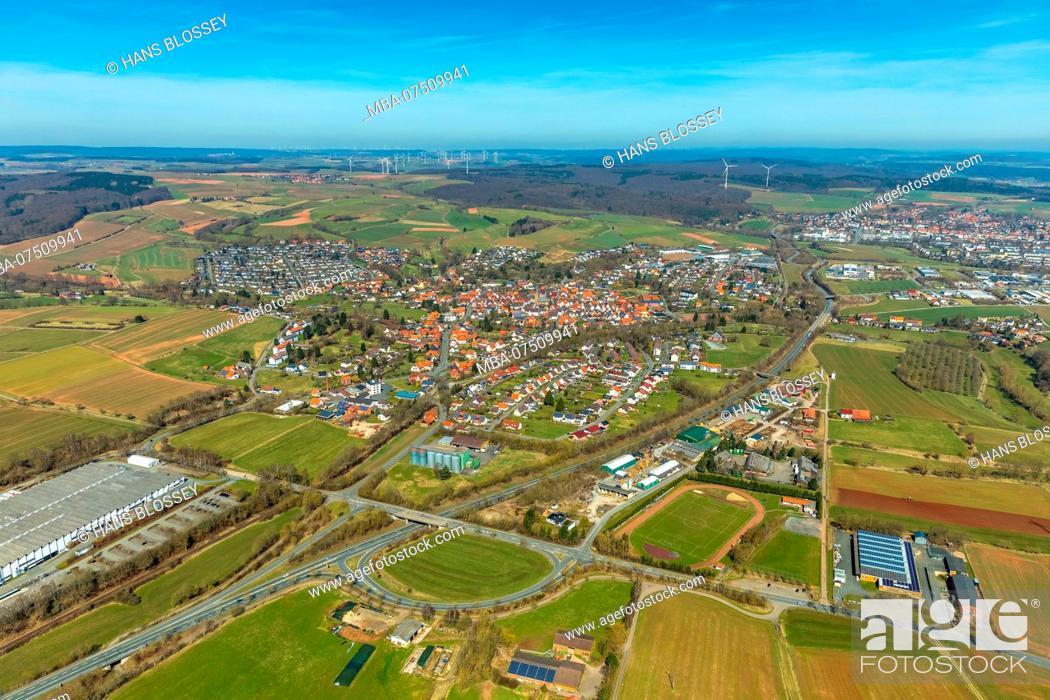 Imagen: District Mengerinhausen in Bad Arolsen, Waldeck-Frankenberg, Hesse, Germany.