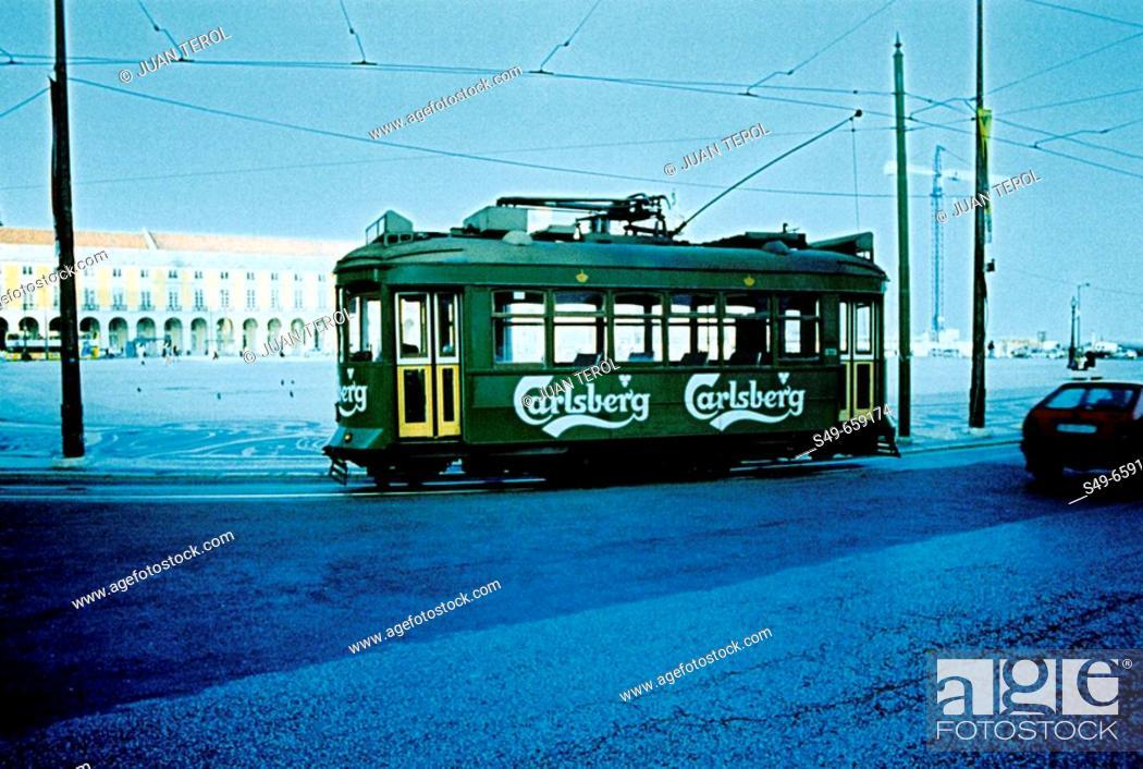 Stock Photo: Streetcar. Lisbon. Portugal.