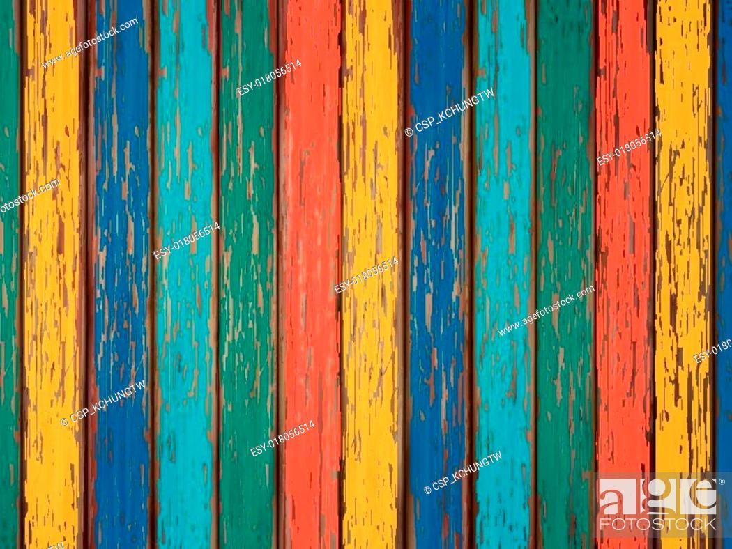 Stock Vector: colorful painted wooden background.