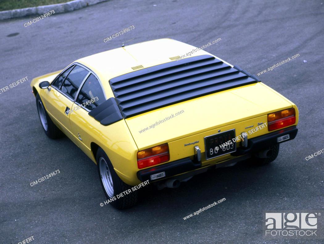 Car Lamborghini Urraco Model Year 1970 The 70s Yellow Roadster