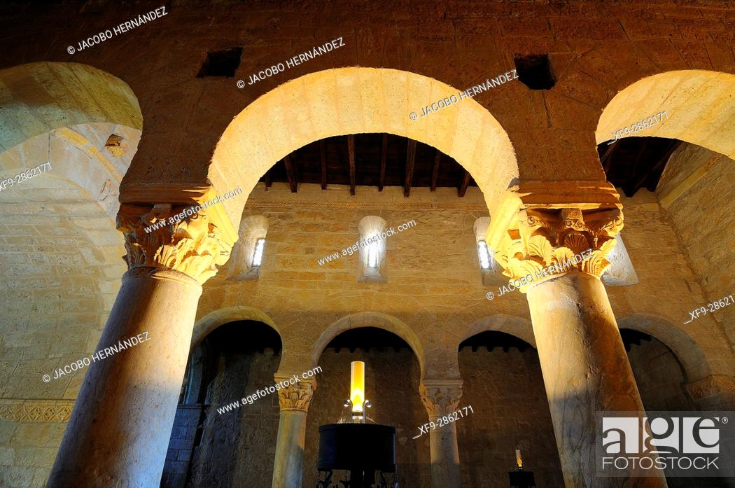 Stock Photo: Visigoth church of San Juan.7th century.Baños de Cerrato.Palencia province.Castilla y Leon.Spain.