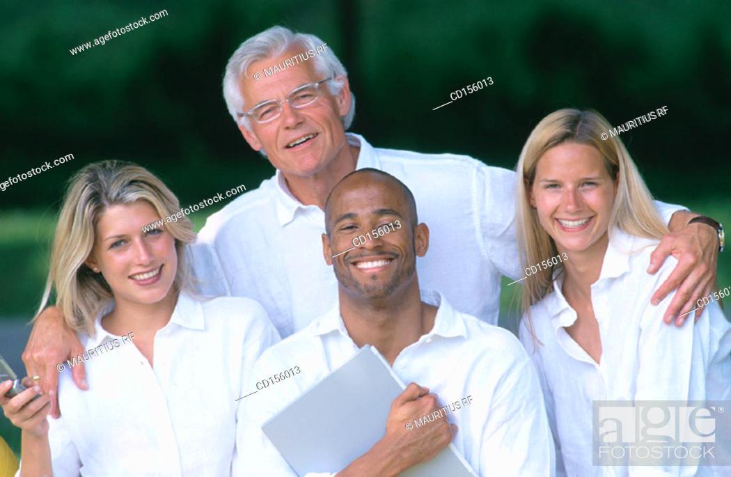Stock Photo: Team work, Together, Friendship.