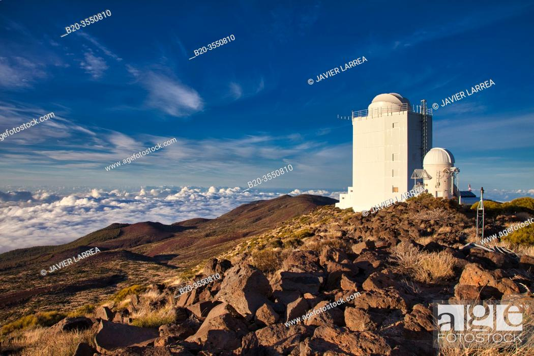 "Stock Photo: New Solar Telescope GREGOR, """"Observatorio del Teide"""" (OT), Astronomical Observatory, Las Cañadas del Teide National Park, Tenerife, Canary Islands, Spain."