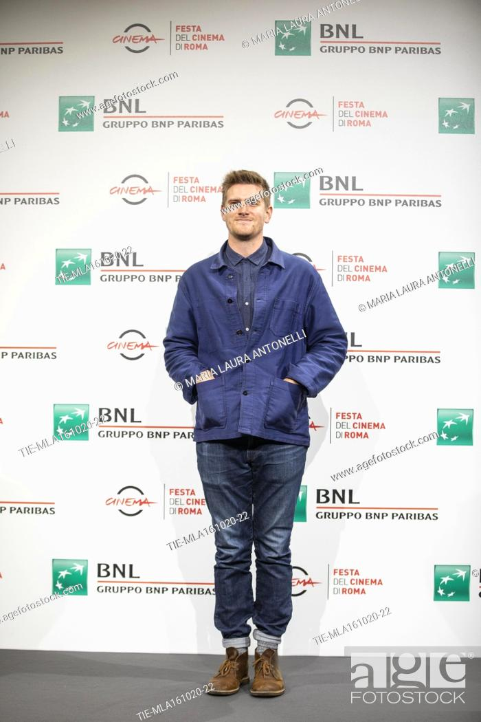 Stock Photo: The director Harry Macqueen during the photocall of film 'Supernova' at the 15th Rome Film Festival, Rome, ITALY-16-10-2020.