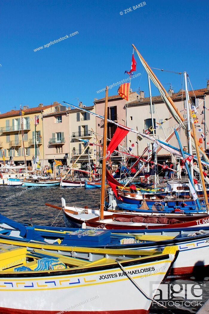 Imagen: France , Cote D'Azur, , St Tropez, The busy harbour. Zoe Baker.