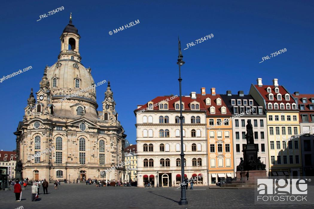 Stock Photo: Church Of Our Lady, Dresden, Saxony, Germany, Europe.