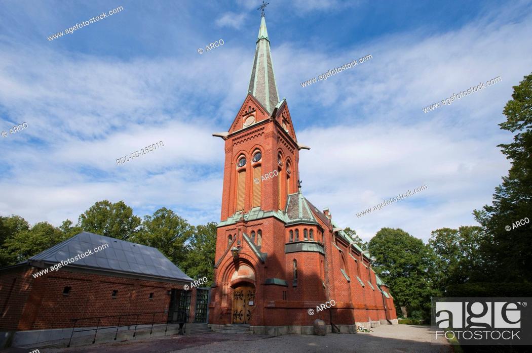 Stock Photo: Norra Nobbelovs Church Lund Scania Skane County Sweden Norra Nöbbelövs Kyrka.