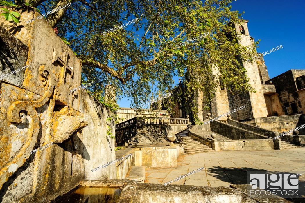 Stock Photo: convent church of Christ, 1162, Tomar, Santarem district, Medio Tejo, region center, Portugal, Europe.