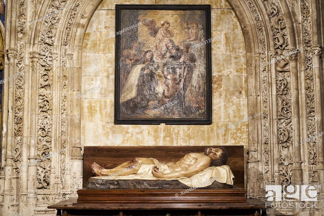 Imagen: El Altar del Cristo de la Agonía Redentora, New Cathedral of Salamanca, Salamanca City, Spain, Europe.