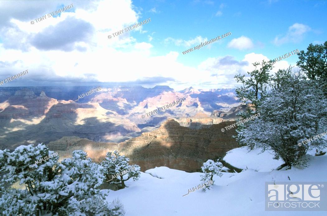 Stock Photo: USA - National Park - Arizona - Grand Canyon - Hiver.
